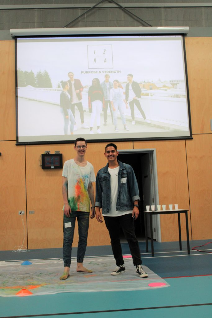 IZRA Workshop - two men presenting workshop