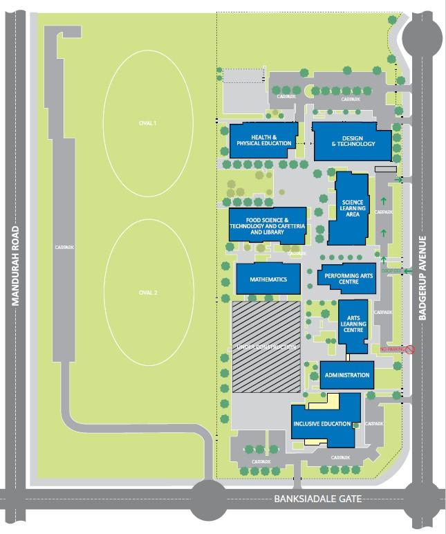 Map of Coastal Lakes College campus