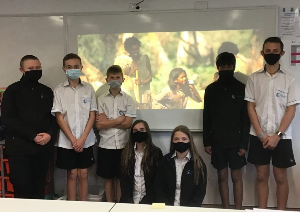 Year 8 students watching Rabbit Proof Fence