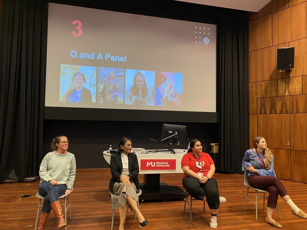 Q& A Panel with 4 women sitting in chairs